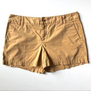 Ann Taylor LOFT Cotton Shorts in Mustard Yellow